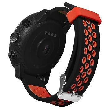 Zolimx Deporte Suave Silicona Correa de Reemplazo Pulsera Relojes Inteligente para Xiaomi Huami Amazfit Stratos 2/2S Fitness Smartband (Rojo): Amazon.es: ...