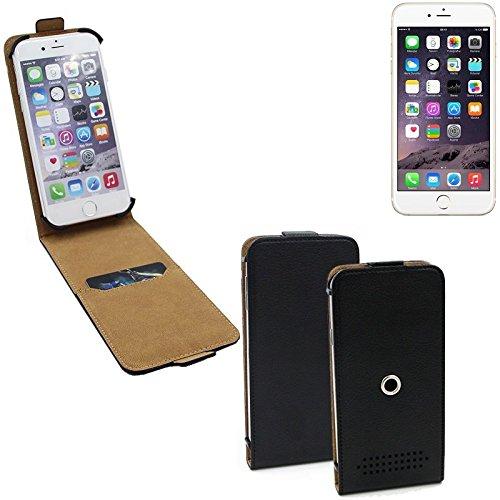 Schutz-Hülle für Apple iPhone 6s, schwarz 360° Handy Case Hülle Smartphone Tasche mit Kameraschutz. flach & elegant. Flipcover aus Kunstleder - K-S-Trade (Wir zahlen Steuern in Deutschland!)