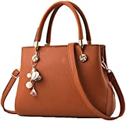 Jeniulet Purses and Handbags for Women Fashion Ladies PU Leather Top Handle Satchel Shoulder Tote Bags