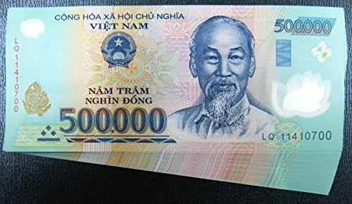 Vietnam 500,000 VND X 2 banknotes (total 1 million VND Dong)