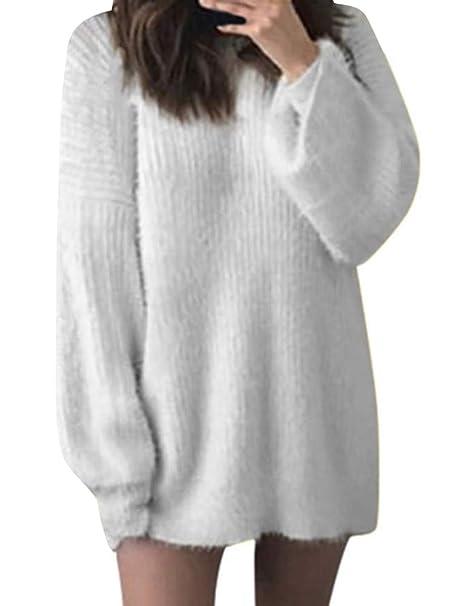 397c2260d038 Tomwell Donna Autunno Invernale Maglione Vestito Maglieria Maniche Lunghe  Maglione Mini Abito Eleganti Pullover Abito Tinta Unita  Amazon.it   Abbigliamento
