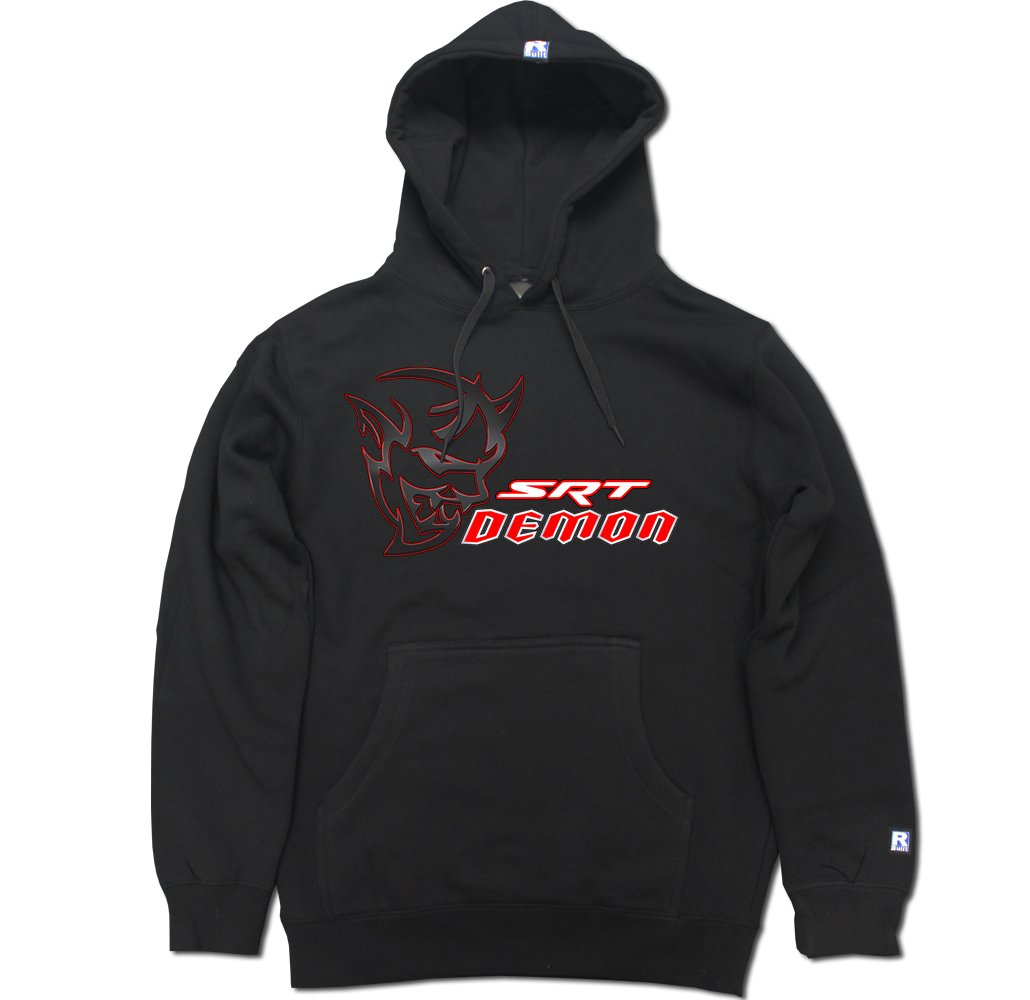 R Built Men's SRT Demon Pullover Hooded Sweater SRTDEMON-HD-BLK-parent