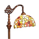 Bieye L10515 12-inches Sunflower Tiffany Style Stained Glass Reading Floor Lamp, 65-inches Tall Review