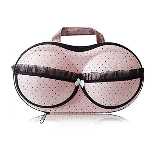 Étui de protection portable pour soutiens-gorge sous-vêtements Organiseur pour le voyage par Combination of Life, rose, 32*17*8cm
