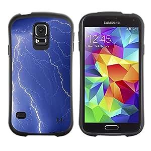 Suave TPU Caso Carcasa de Caucho Funda para Samsung Galaxy S5 SM-G900 / Nature Lightning Strike / STRONG