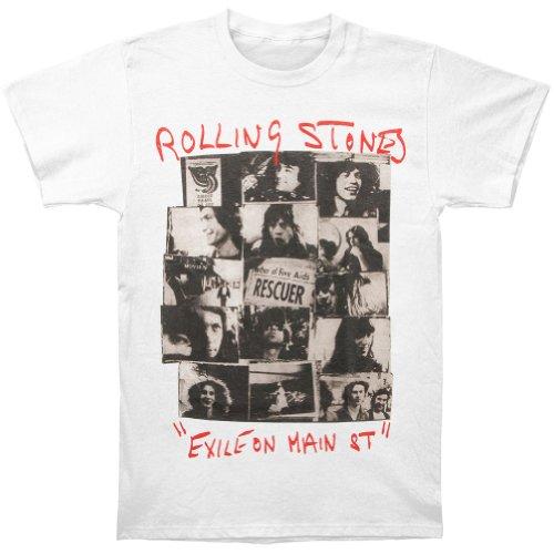 Bravado Men's Rolling Stones Rescuer Collage T-shirt,white,m