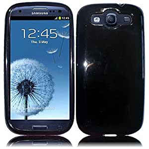 HR Wireless TPU Protective Cover for Samsung Galaxy S3 - Retail Packaging - Black