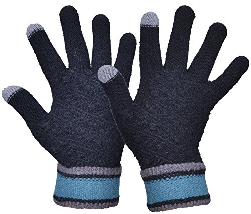 Outrip Women's Winter Wool Knitted Gloves Girls...