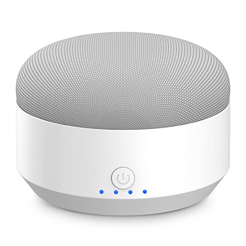 Myriann Portable Rechargeable Battery Base,5200mAh Anti-Slip Rubber Pads&Magnetic Base External Battery Power Bank For Google Home Mini,Charger(White) by MYRIANN