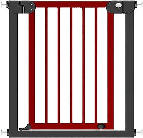 Puertas Extra Anchas De La Escalera del Bebé del Metal, Puerta De Madera del Perro De Animal Doméstico del Soporte De La Presión con La Puerta De Cierre Automático, Altura Los 77cm: