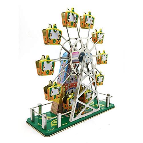 (DDLmax Tinplate Nostalgic Clockwork Chain Toy Photography Prop Ferris)