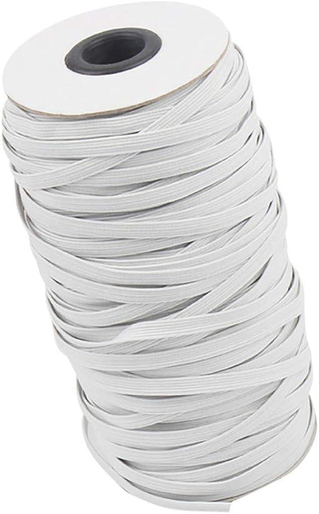 TOPBIGGER 1//4 or 1//8 Width Braided Elastic Cord Elastic Band//Elastic Rope//Bungee//Knit Elastic Spool