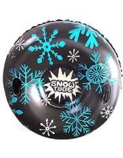 Professionele sneeuwbuis slee, opblaasbare slee, winter, antislip, sneeuwslee, opblaasbaar, met handgreep, PVC sneeuwtube, banden, vorstbestendig, voor volwassenen en kinderen, 47 inch