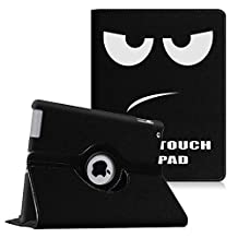 Fintie Apple iPad 2/3/4 Case - 360 Degree Rotating Stand Smart Case Cover for iPad with Retina Display (iPad 4th Generation), the new iPad 3 & iPad 2 (Automatic Wake/Sleep Feature), Dont Touch