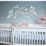 "ufengke ""Olivia"" Beautiful Butterflies Wall Decals, Children's Room Nursery Removable Wall Stickers Murals"
