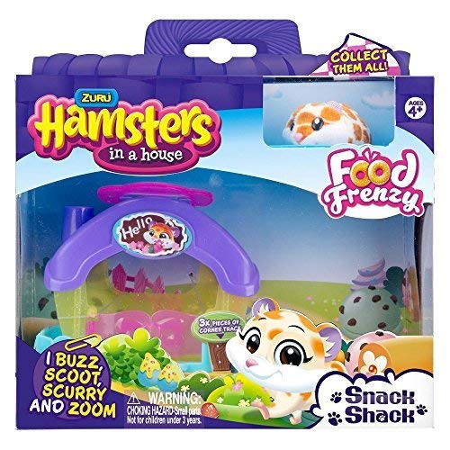 Hamsters in a House Snack Shack with Nibbles Hamster