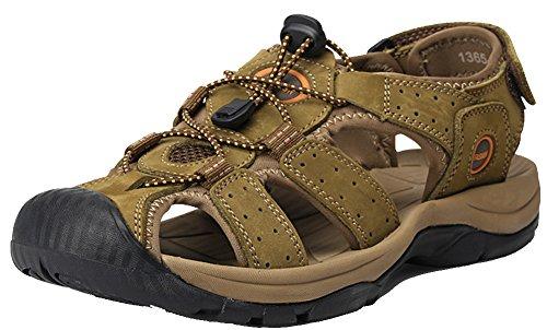 HW-GOODS Mens Outdoor Fisherman Sandals Non-slip Water Shoes Green eCqRIx