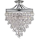 Crystorama 130-CH_CEILING Calypso 3 Light Semi-Flush in Polished Chrome Finish