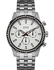 Guess Mens U0801G1 Silver Stainless-Steel Japanese Quartz Dress Watch