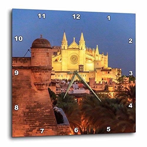 3dRose Danita Delimont - Churches - Spain, Mallorca, Palma de Mallorca. La Seu Gothic Cathedral. - 13x13 Wall Clock (dpp_277911_2) by 3dRose
