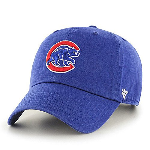 Chicago Cubs 47 Brand Clean Up Adjustable On Field Cotton Blue Hat Cap Mlb