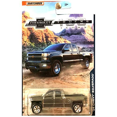 Silverado Charcoal - Matchbox Chevrolet 100 Years Trucks Series 2014 Chevy Silverado Truck Charcoal Gray