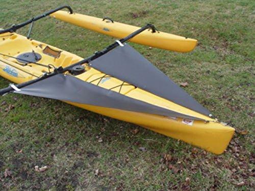 Kayak-Accessories-Hobie-Black-Spray-Shield-Set-for-TANDEM-Hobie-Mirage-Adventure-Island-kayak