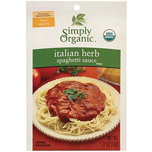 Italian Organic Sauce (Simply Organic Italian Herb Spaghetti Sauce (Pack of 3))
