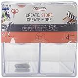 Deflecto Organizador tipo cubo apilable, organizador de escritorio y para manualidades, 4 cajones