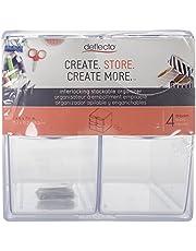 Deflecto Stackable Cube Organizer, Desk and Craft Organizer