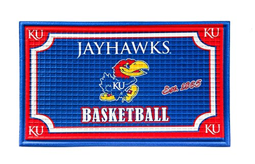 Team Sports America 41EM996, University of Kansas Embossed Door Mat, -