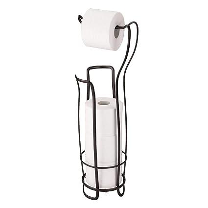 Etonnant InterDesign Axis Free Standing Toilet Paper Holder U2013 Extra Toilet Roll  Storage For Bathroom, Bronze