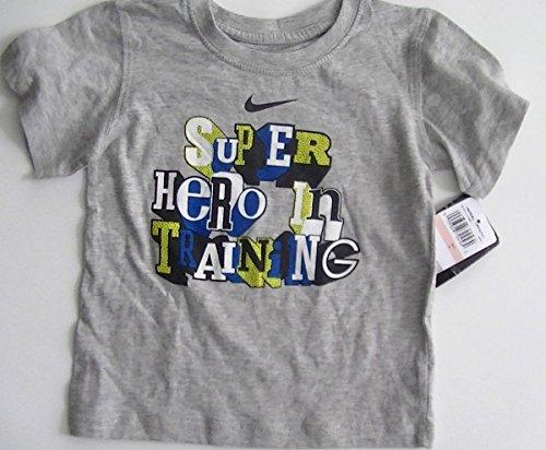 48f21afbc Amazon.com: Nike Kids Tshirt Super Hero in Training 2t Gray: Clothing