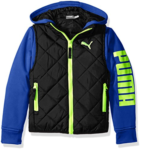 PUMA Boys' Hoodie Vest/Printed Jacket