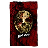 Friday The 13th Jason Voorhees Slasher Movie Bloody Mask Polar Fleece Blanket