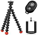 Photo : Joby GorillaPod Magnetic Tripod with Ivation Wireless Bluetooth Camera Shutter Remote Control for Apple and Android Phones and Ivation Universal Tripod Mount for Smartphones
