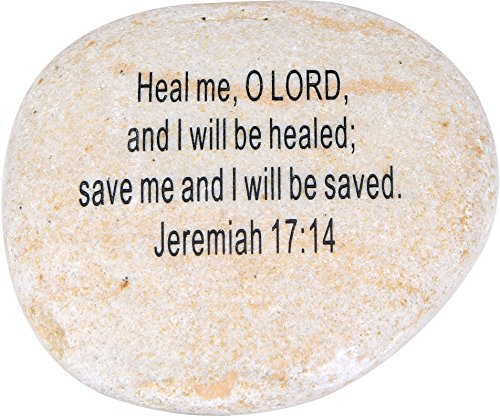 Stone Scripture (Extra Large Engraved Inspirational Scripture Biblical Natural Stones collection - Stone VIII : Jeremiah 17:14 :