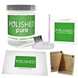 Polished All-Natural Jewelry Cleaner Kit - No Ammonia Jewelry Cleaning Solution, Polishing Cloth + 2 Anti Tarnish Bags | Safe on Skin, Made in USA, Diamond Ring Cleaner, Sapphire, Ruby, Gold Cleaner