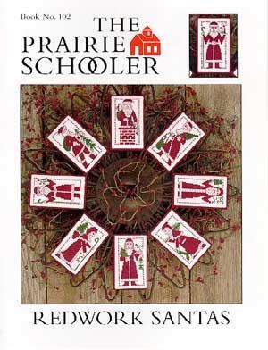 Redwork Santas Cross Stitch Chart