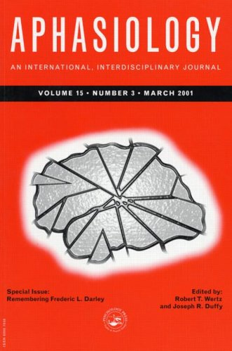 Remembering Frederic L. Darley: A Special Issue of Aphasiology (Special Issues of Aphasiology)