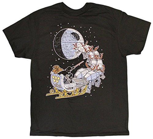 Men's Disney Star Wars Yoda Darth Vader Sleigh Deathstar Christmas T-Shirt (xx-large) ()