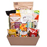 Simply Seattle Vegan Gluten Free Snacks and Sweets Food Gift Basket with Chocolate, Pumpkin Seeds, Peanuts, Popcorn and Truffle Bars