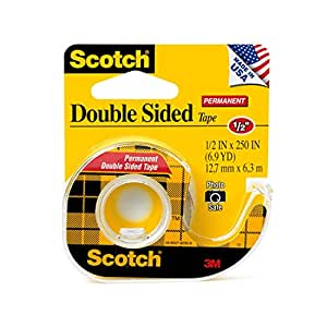 scotch double sided tape with dispenser 1 2 x 250 inches 136 office products. Black Bedroom Furniture Sets. Home Design Ideas