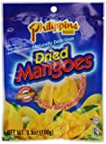 Philippine BRAND Dried Mangoes, 3.5-Ounce (Pack of 25)
