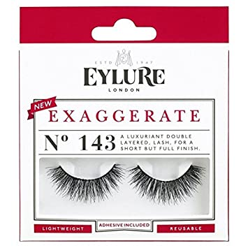 bcd0c564b8f Eylure Exaggerate Lashes 143 (Pack of 4): Amazon.co.uk: Beauty