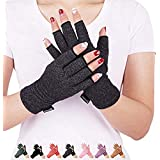 Arthritis Compression Gloves Relieve Pain from Rheumatoid, RSI,Carpal Tunnel, Hand Gloves Fingerless for Computer Typing…