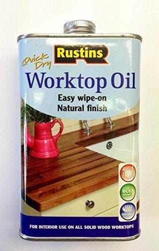 Rustins aceite para superficies de trabajo de secado rápido acabado Natural aceite para toallitas húmedas en superficies 500 ml: Amazon.es: Bricolaje y ...