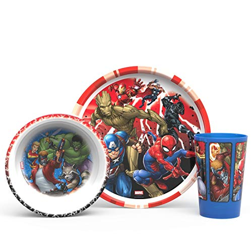 Marvel Infinity War Mealtime 3pcs Set BPA Free by Zak Designs Set by Zak!