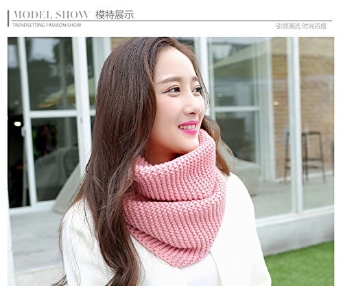Generic Beautiful warm autumn and winter solid color lovers scarf scarves Korean version of the new School of wind knitting wool scarf woman