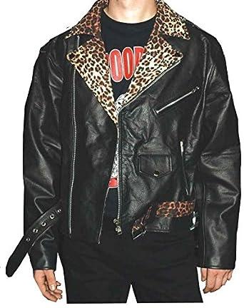 Lederjacke Leopard Classic, schwarz, Grösse XXL: